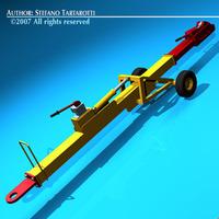 Airport tow bar 3D Model