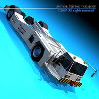 Airport tow tractor2 3D Model