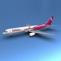 Beoing 757 Delta 3D Model