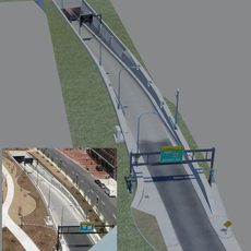 Boston Central Artery/Tunnel (Big Dig) Atlantic Ave. I-93 NB On-Ramp 3D Model