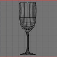 Wine Glasses and Bottles Set 3D Model