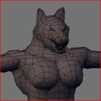 Werewolf Low Poly 3D Model