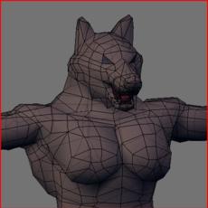 Werewolf Low Poly 3D Model