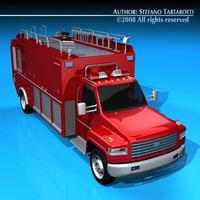 Firetruck us medium 3D Model