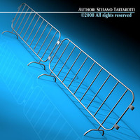 Road barrier metal 3D Model