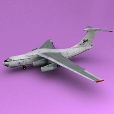 il-76 UN 3D Model
