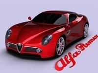 Alfa Romeo 8C Competizione 3D Model