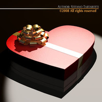 Chocolate valentine box 3D Model