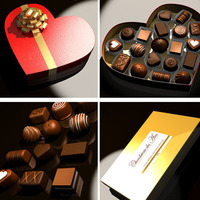 Chocolates collection 3D Model