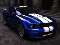 Ford Mustang GT 500 Shelby Cobra 3D Model
