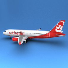 A-320 Air Berlin 3D Model