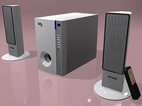 Speaker microlab LEXUS 3D Model