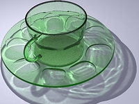 glass teacup 3D Model