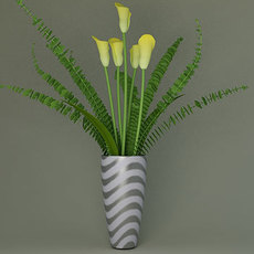 vase with colors (Flower) 3D Model