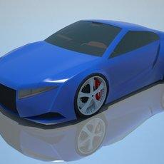 Concept car-Furry 3D Model