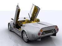 Spyker C8 Spyder 3D Model