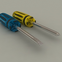 Screwdrivers 3D Model