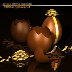 Chocolate eggs 3D Model