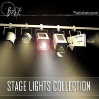 Stage lights - set 3D Model