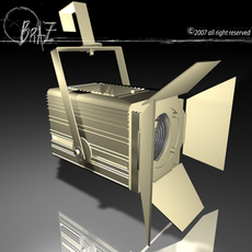 Stage light - Fresnel 3D Model