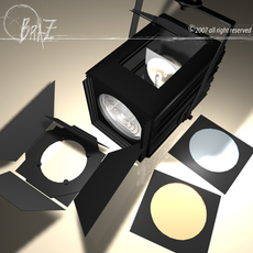Stage light - Fresnel 2 3D Model