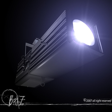 Stage light - Profile 3D Model