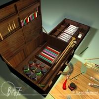 Artist suitcase 3D Model