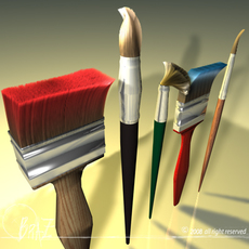Paint brushes 3D Model