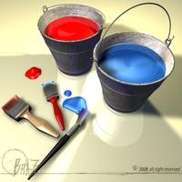 Paint tools 3D Model