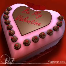 Valentine cake 3D Model