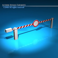 Boundary automatic barrier 3D Model