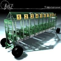 Horses start-cages 3D Model