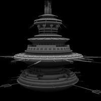 Flying Saucer Mothership 3D Model