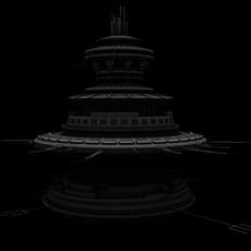 Flying Saucer Mothership 3D Model