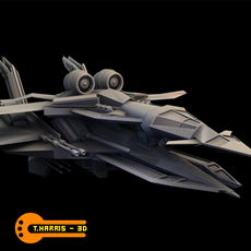 Futuristic Attack Ship - 1 3D Model