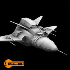 Futuristic Attack Ship 3D Model