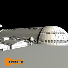 Hanger 1 Moffet Feild 3D Model