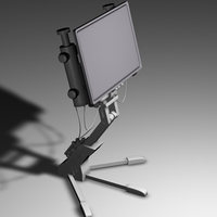Tripod Screen 3D Model