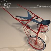 Racing sulky 3D Model