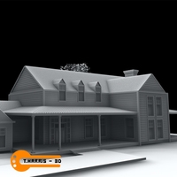 New England Style Home 3D Model