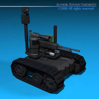 Army recon robot 3D Model