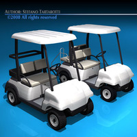 Golfcart collection 3D Model