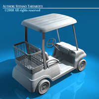 Golf cart 2 seats 3D Model