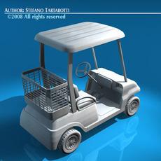 Golf cart 2 seats 3D Model