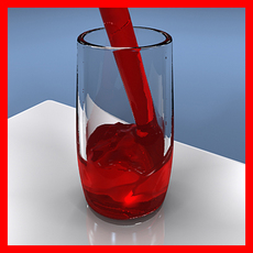 juice pouring into a glass 3D Model
