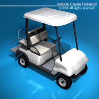 Golf cart 4 seats 3D Model