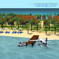 Island resort 3D Model