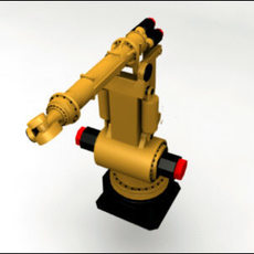 6-Axis-Manufacturing Robot 3D Model