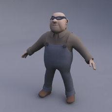 Cartoon Gangster 3D Model
