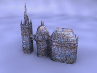 Free Cathedral 3D Model